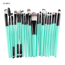 GUJHUI 20 pcs Rose gold Makeup brushes set professional eyebrow Blush foundation hair brush pen Eyeshadow make up brush Cosmetic