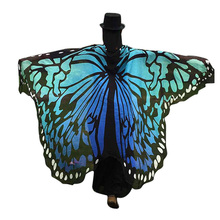 Fashion Chiffon Women Butterfly Wing Shawl & Wraps Animal Print Stole Ladies Cloak for Party Christmas Cachecol Feminino