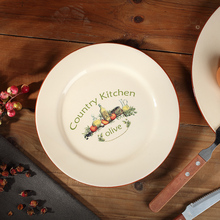 Western-Style Department Store Personalized Disc Flat Plate Ceramic Dish, Food Dish And Dessert, Cake Plate Dessert Home Plate,(China)