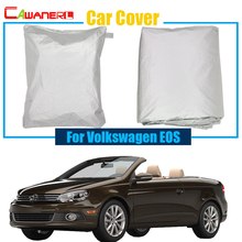 Cawanerl Full Car Cover Sun Snow Rain Resistant Preventing UV Anti Cover Dust Proof For VW Volkswagen EOS(China)