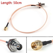 Sale 50cm RG316 Cable BNC Female Bulkhead Jack To SMA Male Plug Straight Pigtail 20in High Quality Mini Jackplug Wire Connector