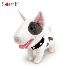 Semk Dog Plush Toy Bulldog Bull Terrier Shepherd Soft Stuffed Dolls for Children Kits Toys Great Christmas Gifts(China)