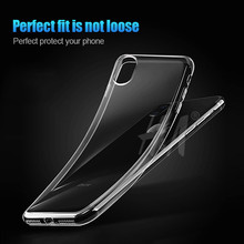 H&A Ultra Thin Soft transparent TPU Case For iPhone 6 6s 7 Plus clear silicone Cover Case For iPhone X 7 5 5s  Phone Bag Case