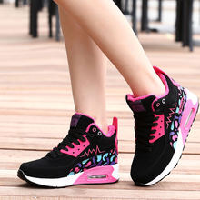 YEALON Winter Height Increasing Sneakers Women Sport Shoes Woman Krasovki Women Running Shoes For Women Feminino Esportivo