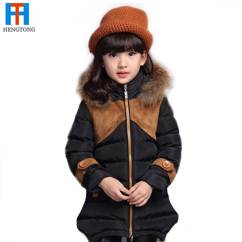 2017 New Brand Kids Winter Girl Coat Thicken Wool Collar Fashion Long Down Jacket For Children Big Girl JacketОдежда и ак�е��уары<br><br><br>Aliexpress