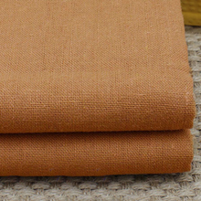 100*140cm,By Meter,Brown Natural Clothing Material Tissus Cotton Linen Fabrics Textile(China)