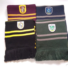 Whole Sale 20pcs Harri Potter Scarf School Unisex Knitted Striped Scarf Slytherin, Gryffindor, Ravenclaw, Hufflepuff Scarf