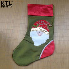 KTLPARTY 50cm*23cm snow man christmas stocking children gift bag(China)