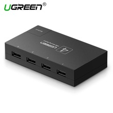 Ugreen KVM Switch USB Sharing Switcher 4/2 PCs Share 1 Device 4/2 Port KVM Selector for Keyboard Printer Monitor USB KVM Switch(China)