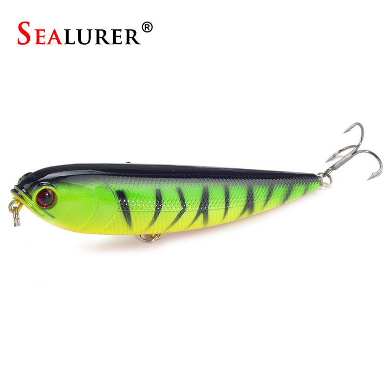 1PCS Topwater Pencil Lure Fishing Bait 115mm 20g Artificial Minnow Hard Lures Baits 12CM 22G<br><br>Aliexpress