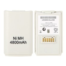 White Color 4800mAh NI-MH Replacement Rechargeable Battery Pack for XBOX 360 Wireless Controller