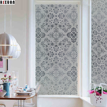decorative window insulation film 50x100cm art flowers pvc frosted living room translucent window stickers Hsxuan brand 500303