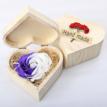 Collectible Soap Roses Hot Sale Foever Rose Flower In Wooden Box for Woman's Best Souvenirs