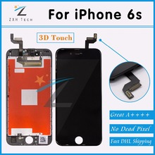 5PCS/LOT Alibaba China Free DHL 100% No Dead Pixel for iPhone 6s LCD Display With 3D Touch Screen Digitizer Assembly Replacement