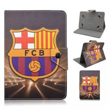 "with Football giants pattern Universal 7inch Tablet Soft PU Leather Case Cover For Samsung 7"" Tablet For Kids pen"