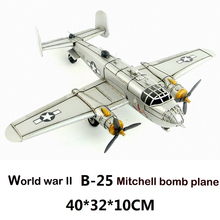 Retro airplane model World war II Cher bomber Plane Metal Simulation Model Diecast Handmade fire ballon Iron crafts collection(China)