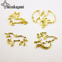 Buy 10pcs/lot Golden Alloy Hollow Dragon Metal Frame Pendant Gold Charm Bezel Setting Cabochon Setting UV Resin Charms for $5.86 in AliExpress store