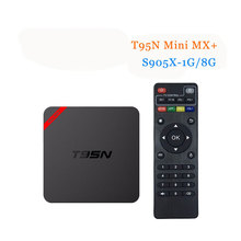 Buy 5pcs T95N Mini MXPLUS Android 6.0 Smart TV BOX S905X Quad Core A53 WIFI2.4G Kdplayer 16.0 8G EMMC 1G DDR 5 core GPU Media Player for $152.00 in AliExpress store