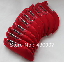 Merry Christmas High Quality 10pc/Set Red Golf Iron Head Covers for Golf Iron Sets W