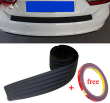 Car styling Car Trunk guard plate sticker Rear bumper rubber protection Tailgate trim bar behind the threshold decor car-styling
