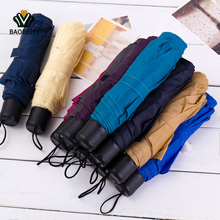 BAOBEIYY Creative Portable Mini Household Items Short Handle Umbrella Folding Umbrella Couple Fashion Sun Umbrella Color