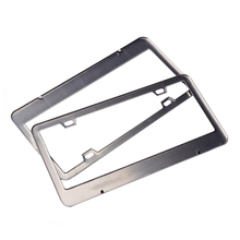 2pcs Stainless Steel License Plate Frame Tag Cover Holder For Auto Truck Vehicles Only For American Canada Car