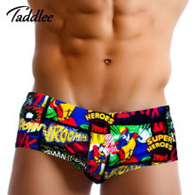 Buy Taddlee Brand Sexy Mens Swimwear Swimsuits Low Waist Swimming Boxer Trunks Men Swim Shorts Gay Surf Board Shorts Swim Briefs