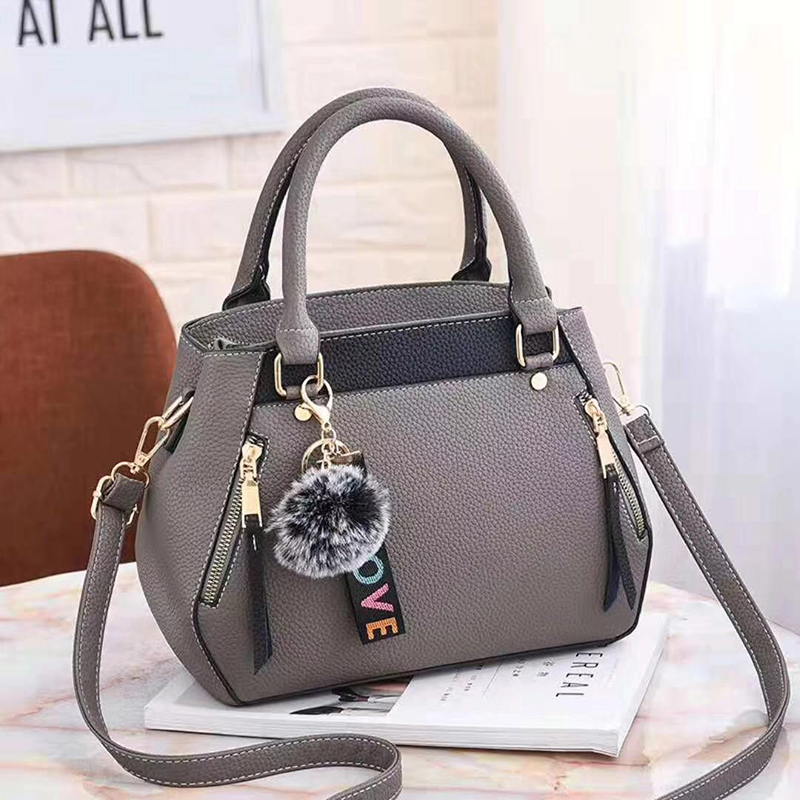 women hairball ornaments totes solid sequined handbag hotsale party purse ladies messenger crossbody shoulder bags 23