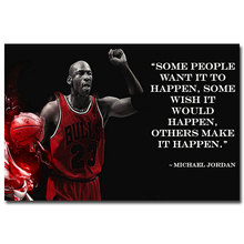 NICOLESHENTING Michael Jordan Motivational Quotes Art Silk Fabric Poster Print Inspirational Wall Picture Home Room Decor 023