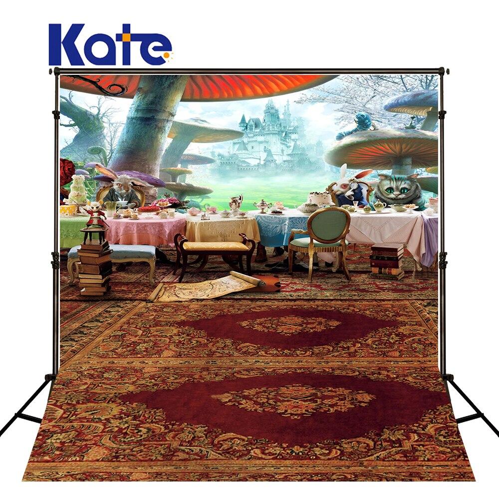 150x220cm Kate Children Backdrops Forest Animals Dinner  Carpet Backgrounds Photo Backdrops  Photography Fondos For Wedding<br>