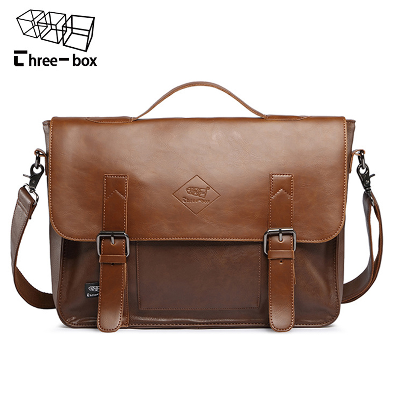 Three-box 2017 Leather Men Casual Messenger Bags Fashion Crossbody Shoulder Bags Large Capacity Mens Brand Business Handbags<br>
