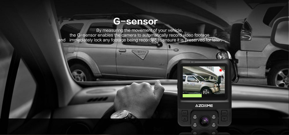 Azdome GS65H Mini Dual Lens Car DVR Camera 1080P Full HD Dash Cam Novatek 96655 Video Recorder G-sensor Night Vision 10