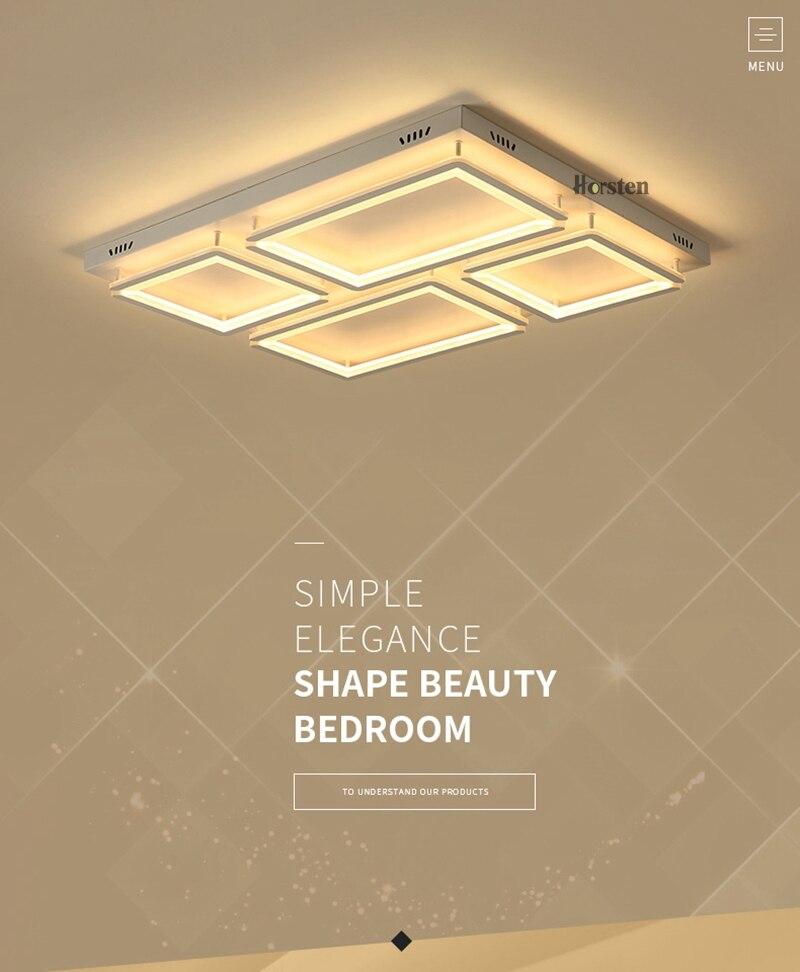 Modern Led Ceiling Light For Living Room Bedroom Kitchen Dimmer Simple LED Ceiling Lamp Home Lighting (1)