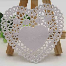 "Creative Craft 4"" Inch Heart White Paper Lace Doilies Cake Placemat Party Wedding Gift Decoration 100pcs/pack"