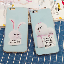 Cute The Secret Life of Pets Dog Cat Animals Kids Phone Cases For For iphone 6 6S Plus 5 5s SE Case Lovely Rabbit Cover Capa(China)