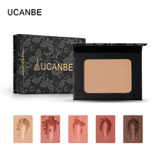 UCANBE Brand Shimmer Matte Bronzer Blush Palette Oil Control Face Makeup Mineral Rouge Blusher Shading Powder Contour Cosmetics(China)