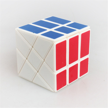 Promotion YongJun Strange-shape Magic Speed Cube White ABS Plastic Puzzles cubes Hot Wheel Abnormity Cube Kids Educational Toys