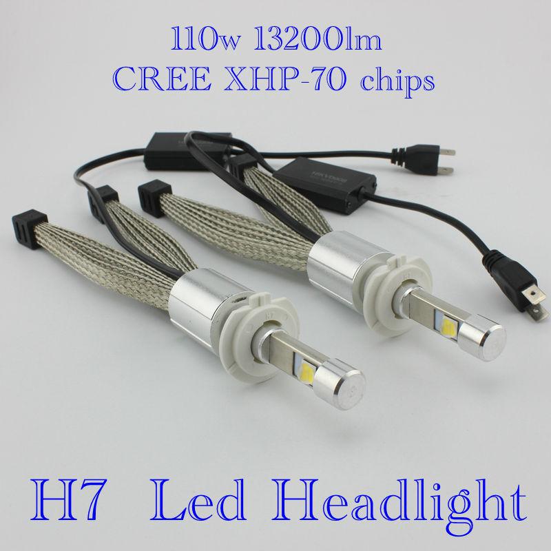 Ossen XHP-70 H7 LED Headlight 110w 6600lm 5000k Xenon White Head light H4 H8 H9 H11 9005 HB3 H10 9006 HB4 9012 9004/7 Headlights<br><br>Aliexpress