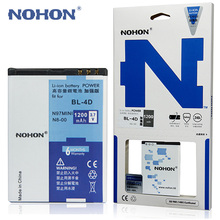 100% Original NOHON Battery BL-4D For Nokia N97 Mini N8 E7 E5 803 N803 702T E6 N5 210 T7-00 Batteria BL 4D BL4D Li-ion Batteries(China)