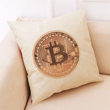 Buy Throw Printed Home Decor Cushion Cover Bitcoin Decorative Coins Throw Pillowcase Almofadas Cojines #TJ20 for $1.84 in AliExpress store