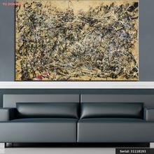 Jackson Pollock  Number 1A  Still life Abstract oil Painting Drawing art Spray Unframed Canvas miniature picture brass31118193