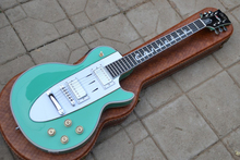 New Custom shop 1960 Corvette Les electric guitar, symbol of music fingerboard Green paul guitar ,LP guitar without hardcase,