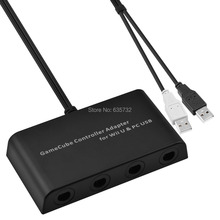 MayFlash 4 Ports for GameCube Controller Adapter for WiiU & PC USB