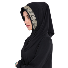 Babalet Womens' Modest Muslim Long Hijab Scarf Modal Full Cover Gold Glitter Islamic Neck Cover Caps Ready to Wear Arab Headwear(China)