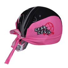 GEAR DEVIL  Pink Women's Cycling Bicycle Bike Sweat Proof Hat Headband Riding Outdoor Sports Pirate Cap Scarf One-Size CC3502