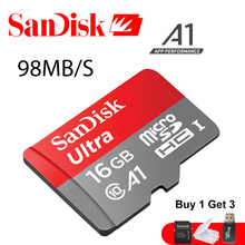 Original Sandisk 32GB Micro SD Card CLASS 10 SDXC microsd 64gb SDHC 16GB TF Card with Free Card Reader Mobile Phone Memory cards(China)