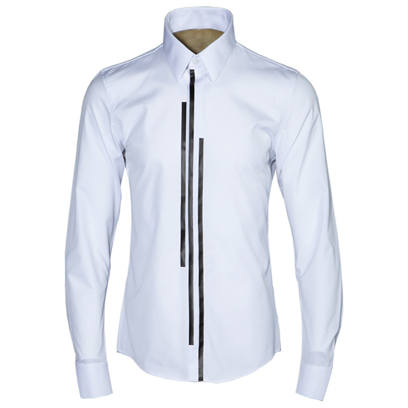 New original classic trend long sleeve cotton shirt men brand white solid shirts male fashion spring shirt mens tops chemise