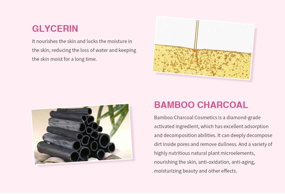 HEMEIEL Detox Oxygen Bubble Sheet Mask Korean Cosmetic Moisturizing Bamboo Charcoal Black Face Mask Facial Whitening Skin Care 4