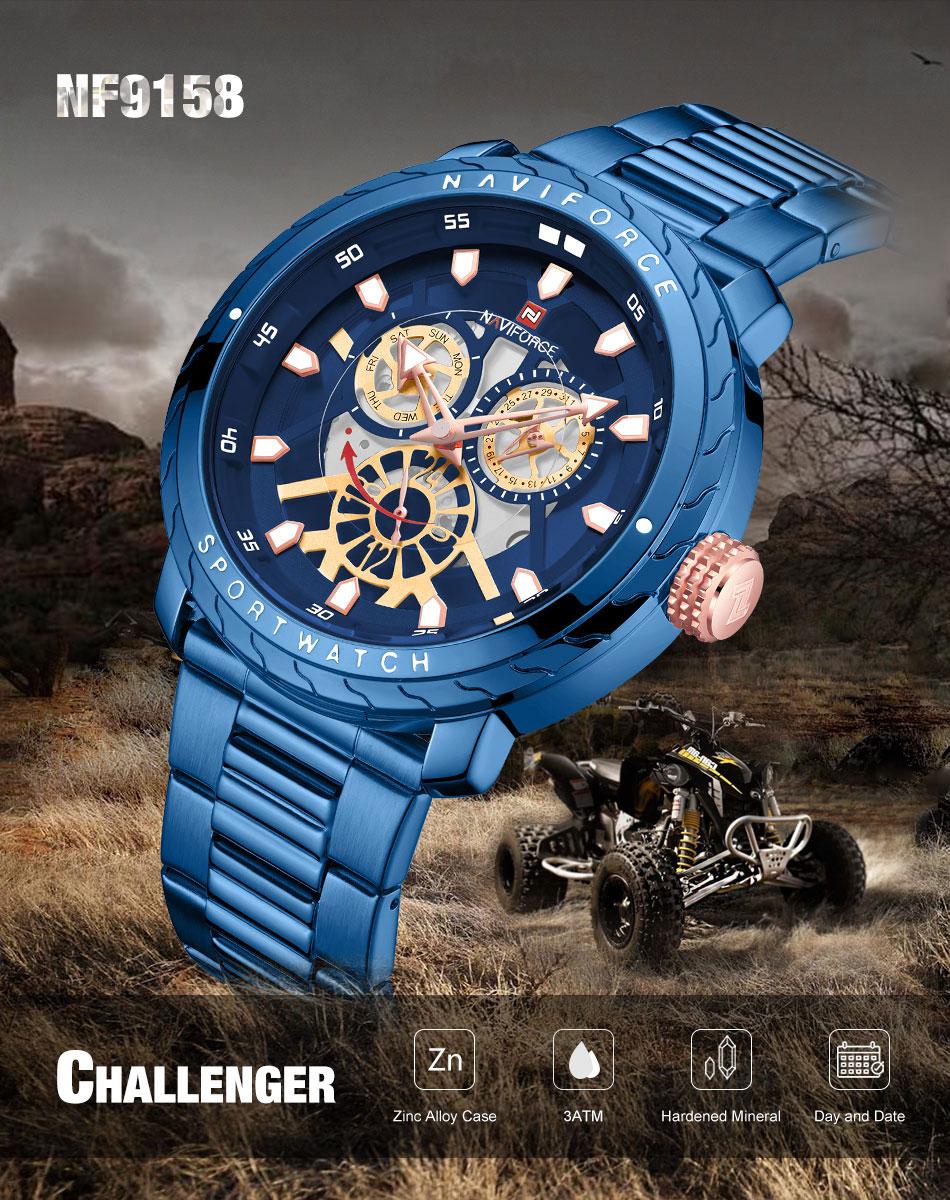 NAVIFORCE NF9158 Stainless Steel Watch 5