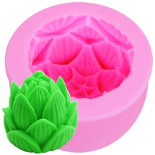 S104 Lotus Flower Shaped I love you silicone soap mold form for soap Clay mold Salt carving mould wholesale 7.8*5.2CM(China)